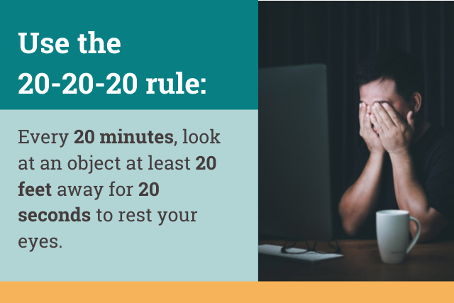 how to use the 20-20-20 rule