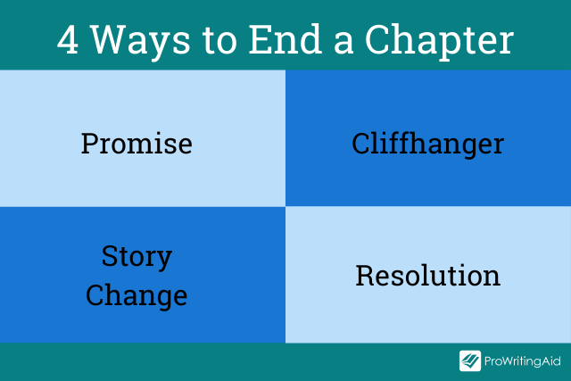 Four ways to end a chapter