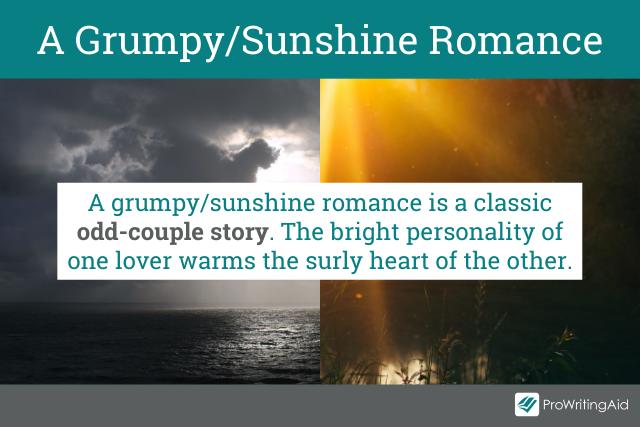 Definition of a grumpy and sunshine romance