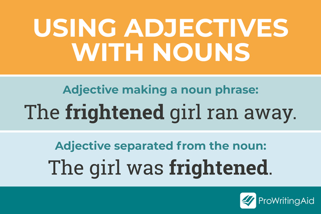 using adjectives with nouns