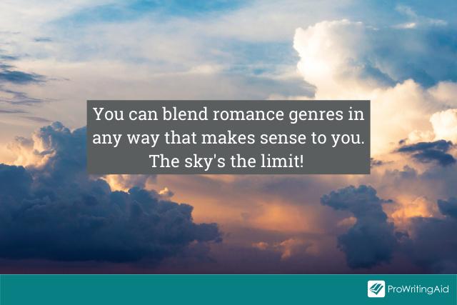 Blending romance genres