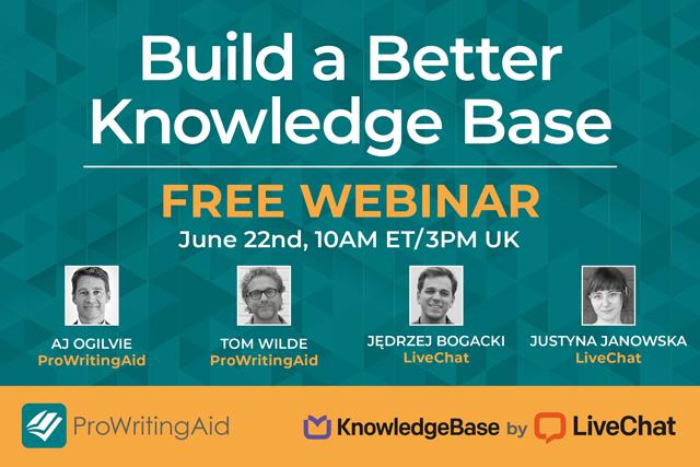 Build a Better Knowledge Base Webinar Image