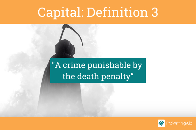 Capital meaning a crime or the punishment