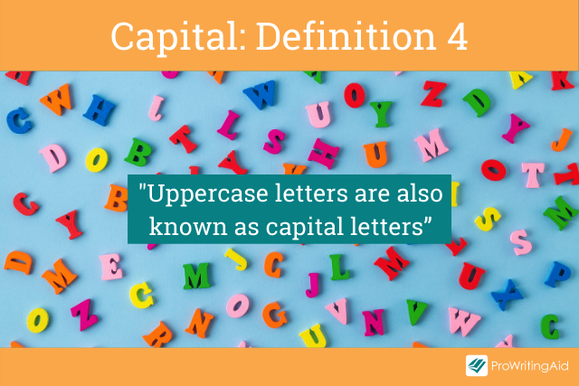 Capital meaning uppercase letters