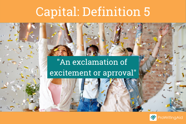 Capital meaning an exclamation of excitement