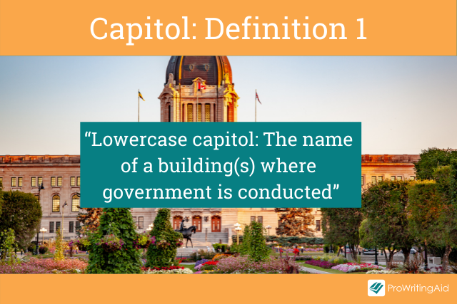 Capitol meaning a government building