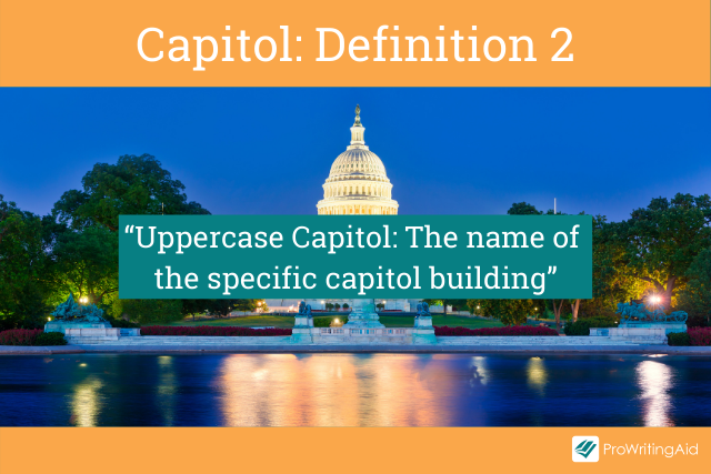 Capitol meaning a specific government building