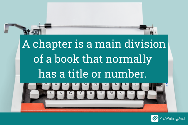 The definition of a chapter