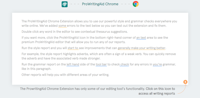 How to Use the ProWritingAid Chrome Extension