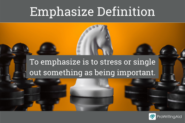 emphasize definition