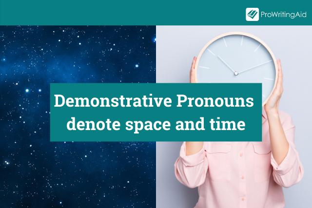 Demonstrative Pronouns Definition