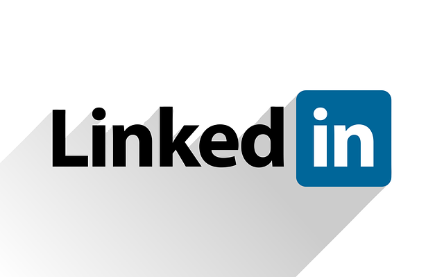 linked in logo on a white background