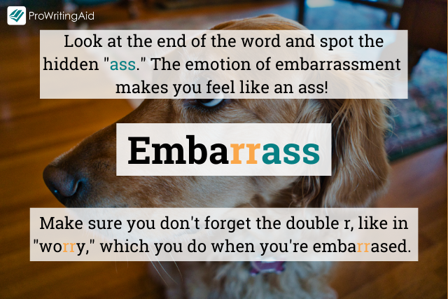 How to spell embarrass