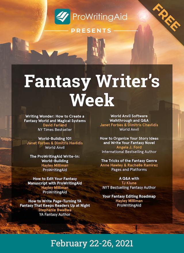 fantasy writer's week graphic