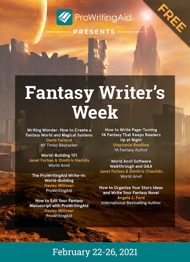 fantasy writer's week graphic