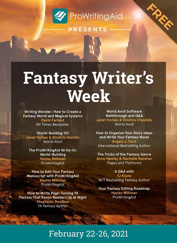 Fantasy Writer's Week Schedule of Events