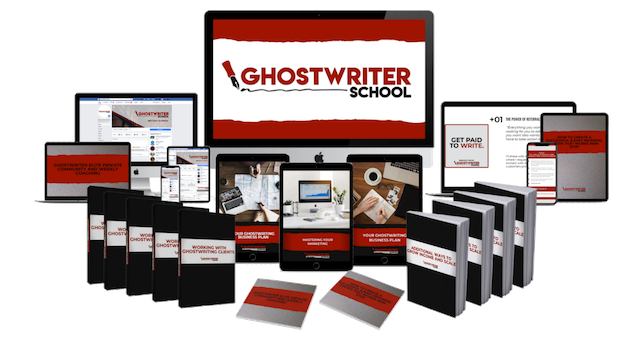 ghostwriter school package including online trainings and books