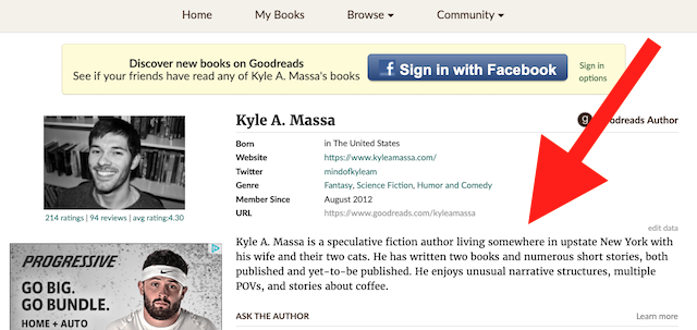 goodreads info
