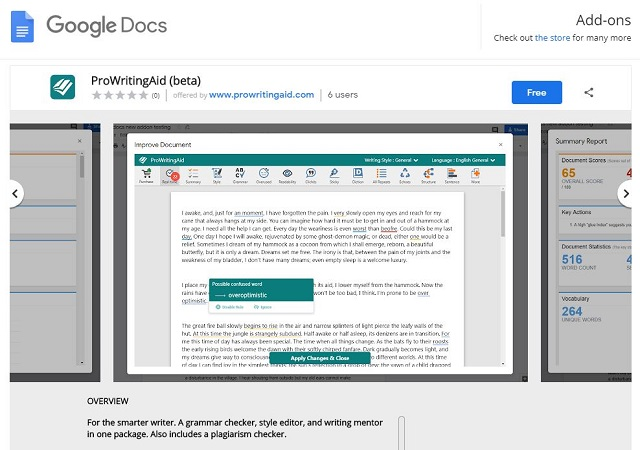 How to Use ProWritingAid with GoogleDocs