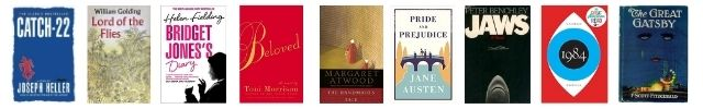 Iconic book covers for Jane Austen, Margaret Atwood, and more