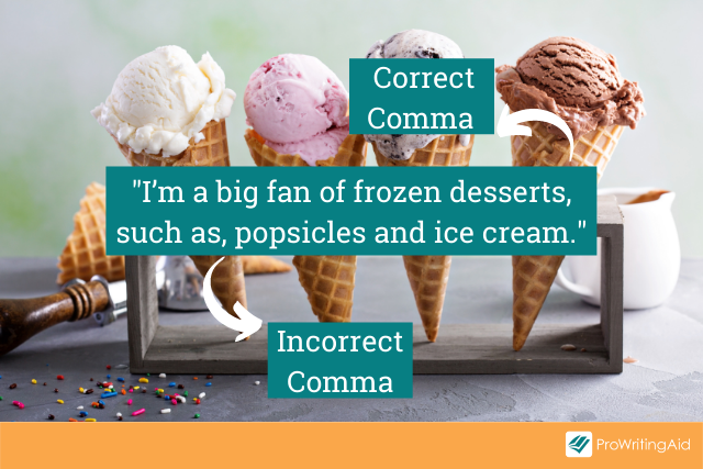 """Using commas with the phrase """"such as"""" in a sentence"""