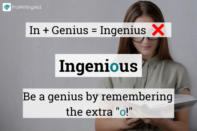 How to spell ingenious