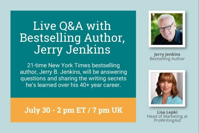 Online Writing Event with Bestselling Author Jerry Jenkins