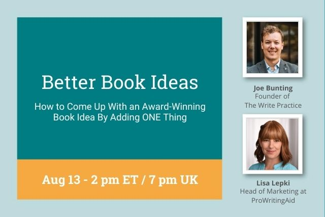 Webinar: How to Come Up With an Award-Winning Book Idea