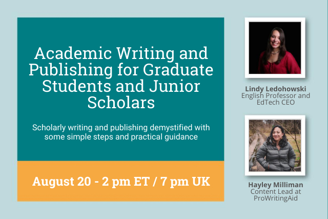 Webinar Replay: Academic Writing and Publishing for Graduate Students and Junior Scholars