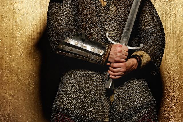 A man holding a sword