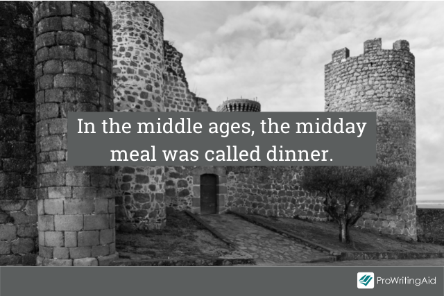 Dinner in the middle ages