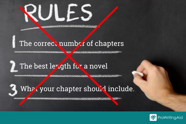 There are no rules for writing a chapter