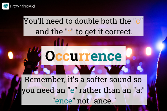 How to spell occurrence