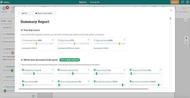 ProWritingAid's Summary Report screenshot]([ProWritingAid Summary Report screenshot