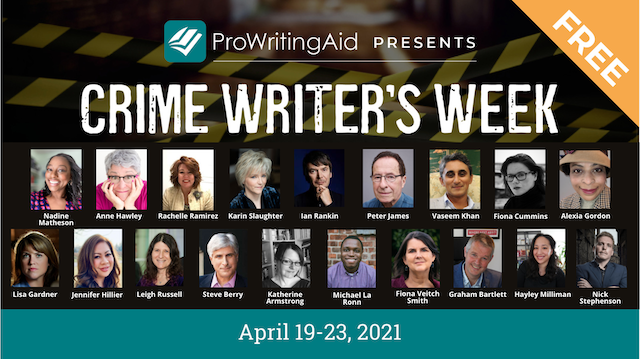 prowritingaid's crime week speakers