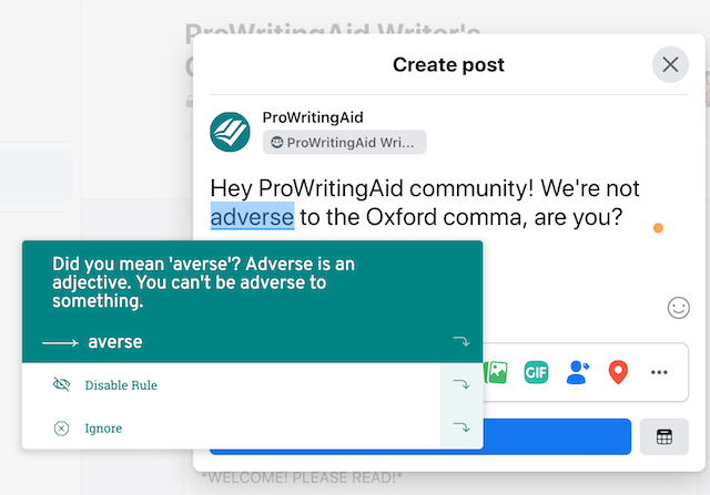 prowritingaid on facebook