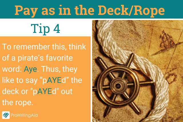 Pay as in the deck tip