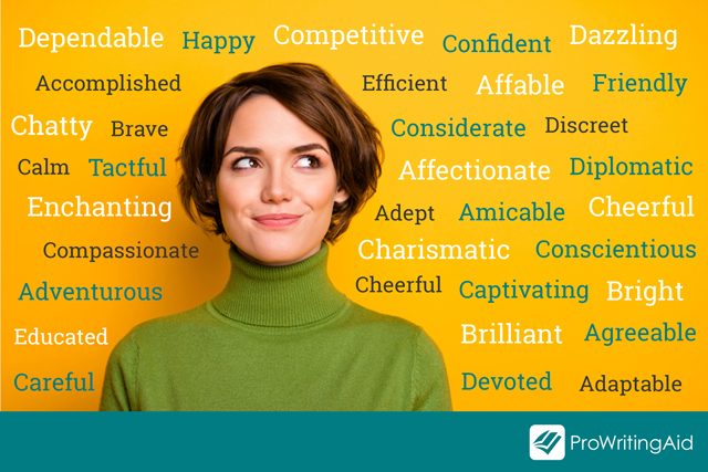 examples of positive adjectives to describe a person