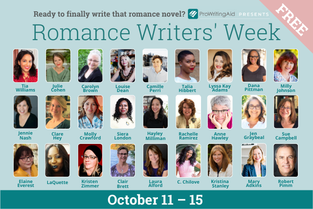cover for romance writers' week with headshots