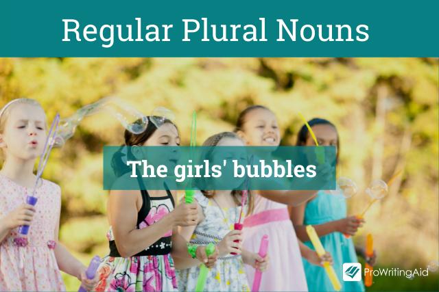 Regular Plural Nouns Example