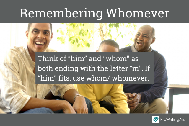 Tip for remembering whomever