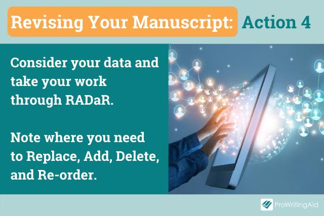 Action 4, take your work through Radar