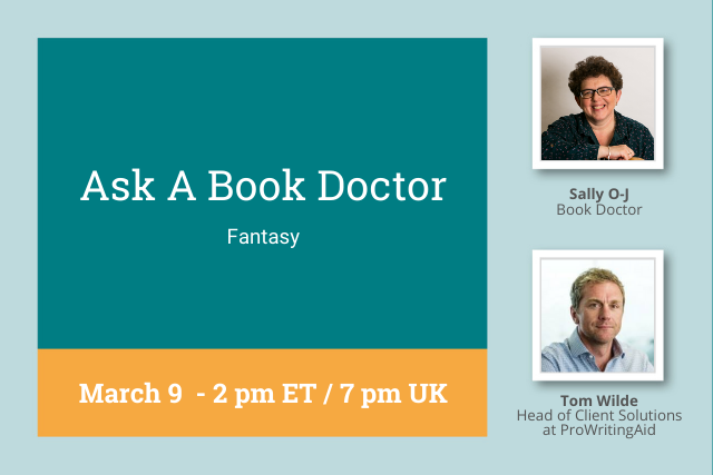 Cover, reading: Ask a Book Doctor, Mar 9 2PM ET/7PM UK
