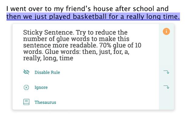 Sticky Sentences