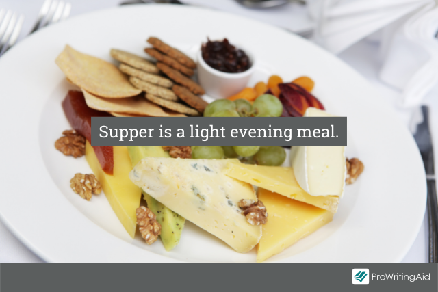 Supper is the lighter meal