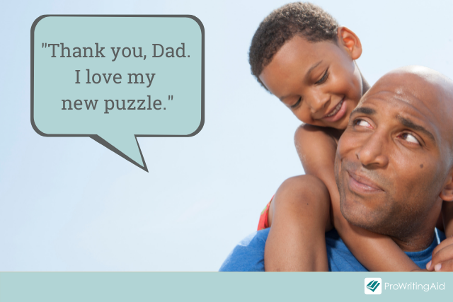 example of using thank you in a sentence with a comma