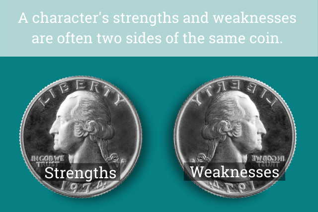 Strengths and weaknesses are two sides of the same coin