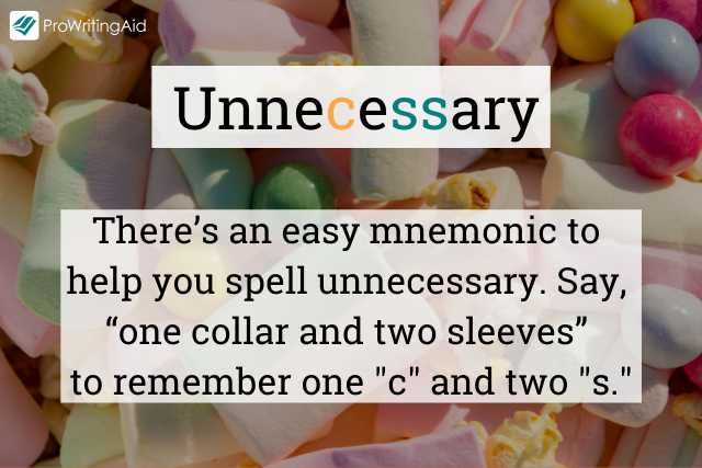 How to spell unnecessary