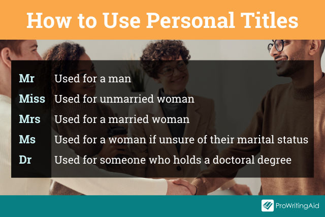 The rules for using personal titles