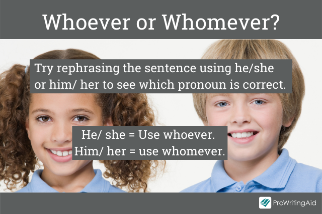 Using whoever or whomever